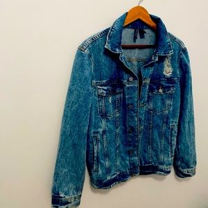 H&M Jean Jacket divided demin with tips